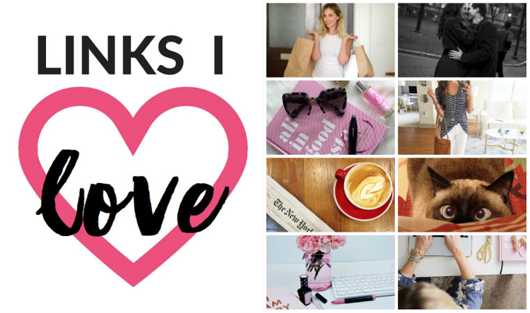 April Links I Love on Coming Up Roses - Smart shopping strategies from Cupcakes and Cashmere's head honcho, what divorce can teach about marriage, the Netflix for designer sunglasses, an inside look at a top fashion blogger's biz, 21 of the best coffee shops in Philadelphia, hilariously at-home with the cat, how to spring clean your business, and work/life balance from Chronicles of Frivolity