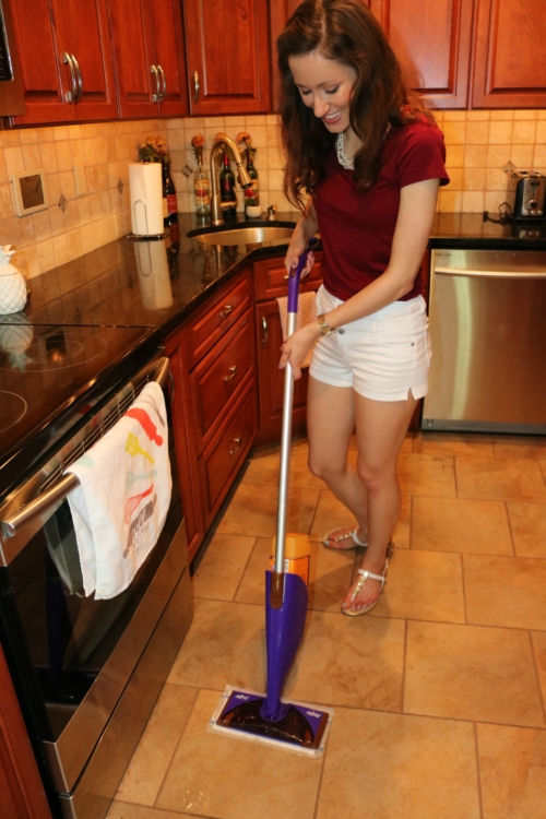 Swiffer ® WetJet Mop  - 6 Cleaning Musts for Quick Entertaining on Coming Up Roses