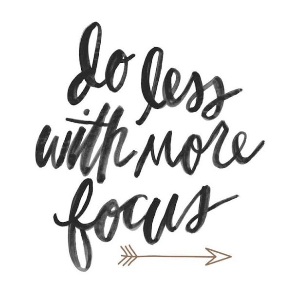 """Do less, get more."" - Monday Mantra on Coming Up Roses Monday motivation"