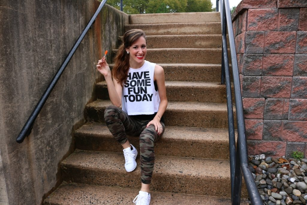 """""""Have Some Fun Today"""" - Monday Mantra on Coming Up Roses - How to be a Fashion Blogger: 6 Pose Ideas for Better Style Shots by popular Philadelphia fashion blogger Coming Up Roses"""