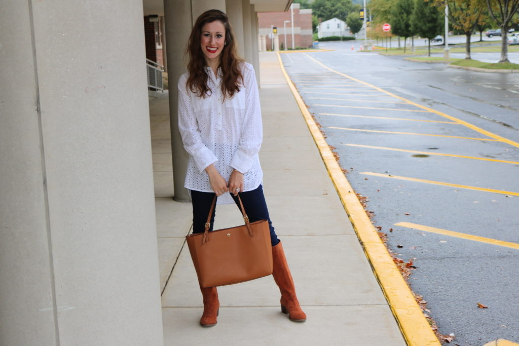 Fall fashion with Camel- Tory Burch York Tote, Coming Up Roses