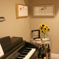 HOUSE TOUR: Basement + Bar Cart