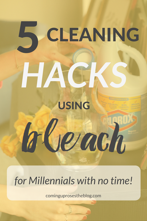 5 Cleaning Hacks using BLEACH for Millennials with no time! (And you will NOT believe #3...). ;) - on Coming Up Roses
