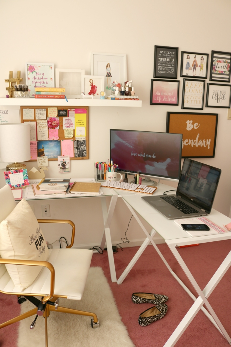 House tour my home office home office decor on a budget - Small home office ideas ...