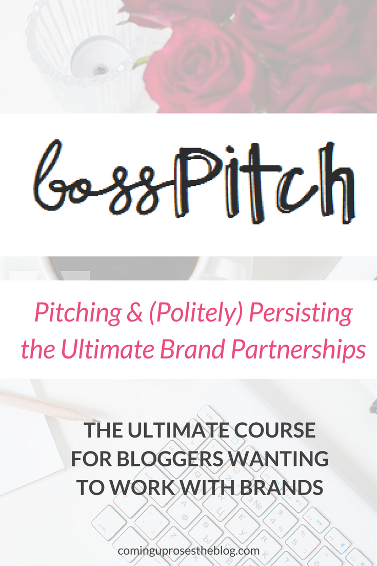 BossPitch: Pitching & (Politely) Persisting the Ultimate Brand Partnerships (COURSE on how to work with brands as a Blogger!)