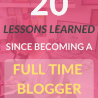 20 Lessons I've Learned Since Becoming a Full Time Blogger