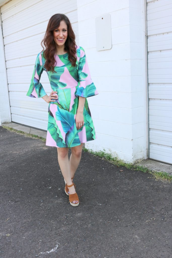 Palm print dress - How to rock Palm Print