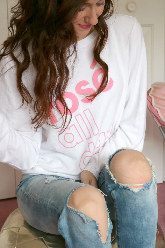 rose all day sweatshirt