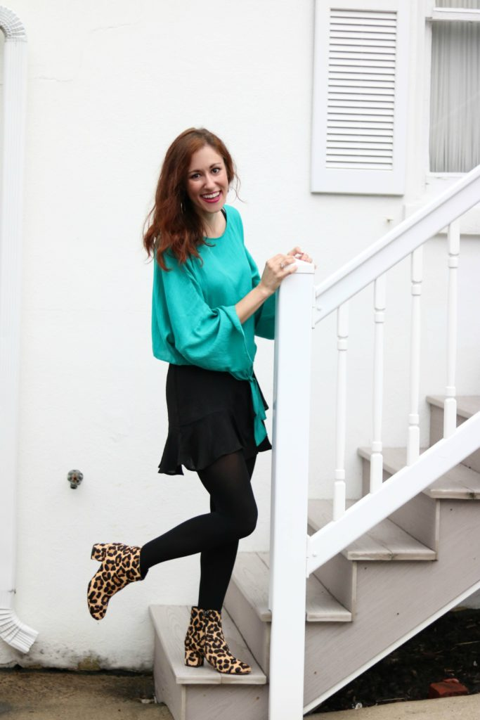Hanes Perfect Tights - Styled Girly AND Edgy in my own Personal Style Mantra