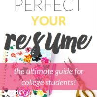 How to Perfect your Resumé