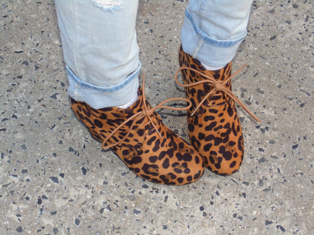 leopard wedge booties filly flair