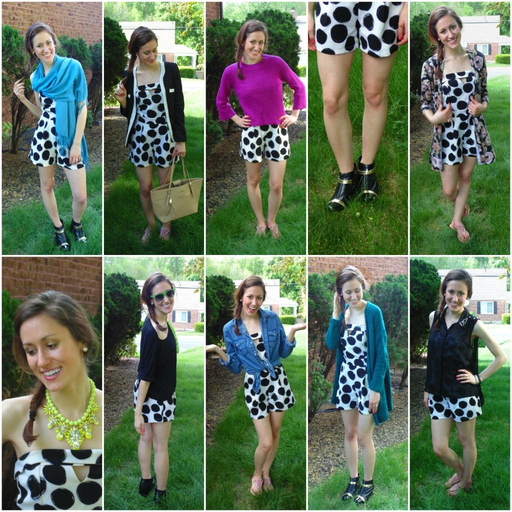how to wear a polka dot romper ten ways mint julep boutique