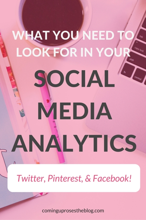 How to track social media analytics - on Coming Up Roses