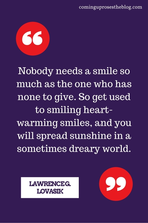 Smiling quote + teeth whitening tips from Coming Up Roses