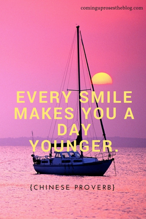 Smiling quote + teeth whitening on Coming Up Roses