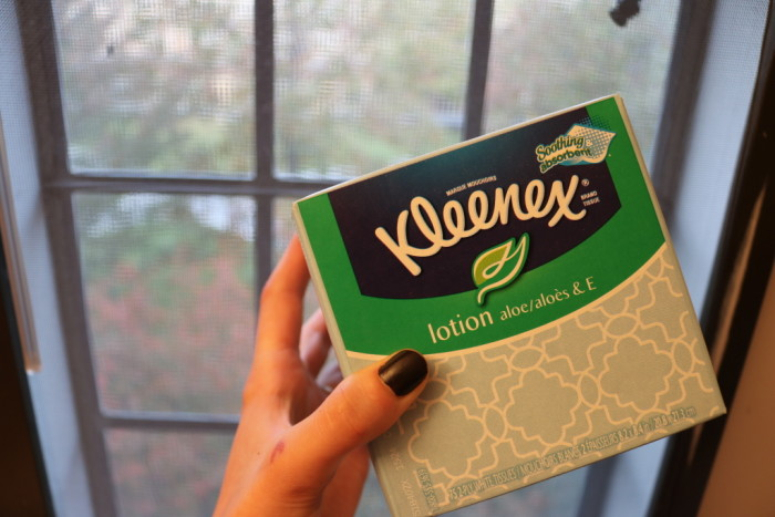 Kleenex with lotion to not get sick in college - How to Not Get Sick in College: 13 Tips by popular Philadelphia lifestyle blogger, Coming Up Roses