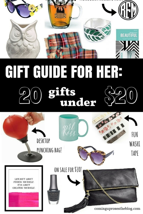 Gift Guide for Her: 20 Gifts under $20