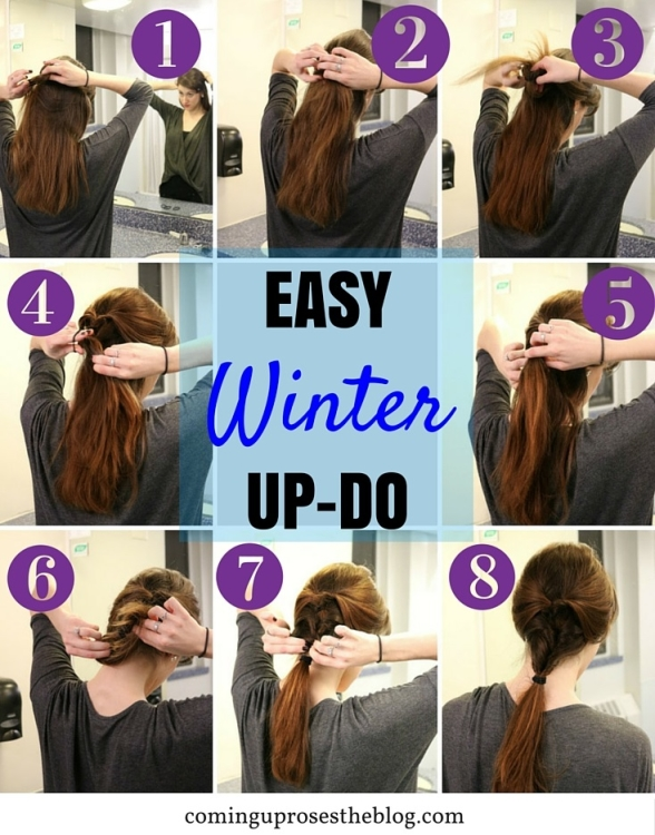 Easy winter up-do hairstyle - Coming Up Roses