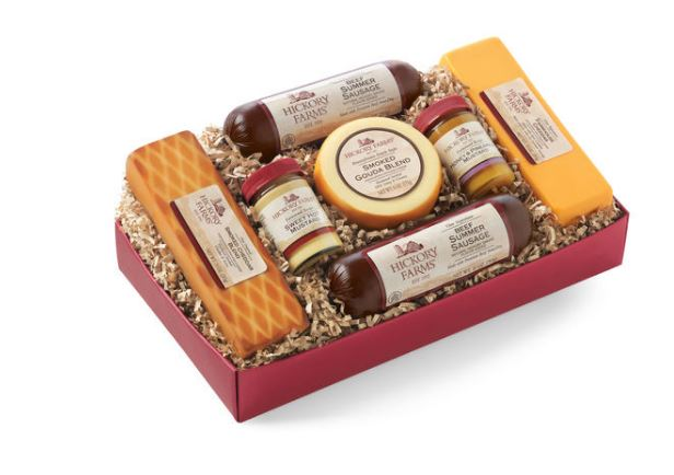 Hickory Farms Summer Sausage - Father's Day Gift Ideas on Coming Up Roses - 8 Fathers Day Gift Ideas featured by popular Philadelphia lifestyle blogger, Coming Up Roses