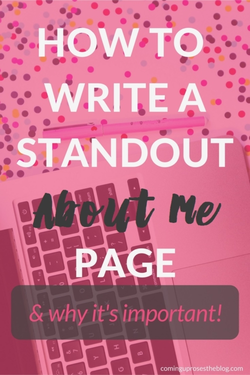 How to Write a Standout About Me Page by popular Philadelphia blogger, Coming Up Roses