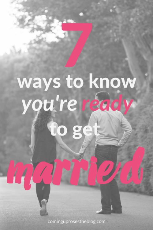 How do you know when your ready to get married