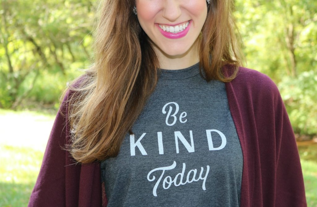 Be kind today. - Monday Mantra on Coming Up Rose