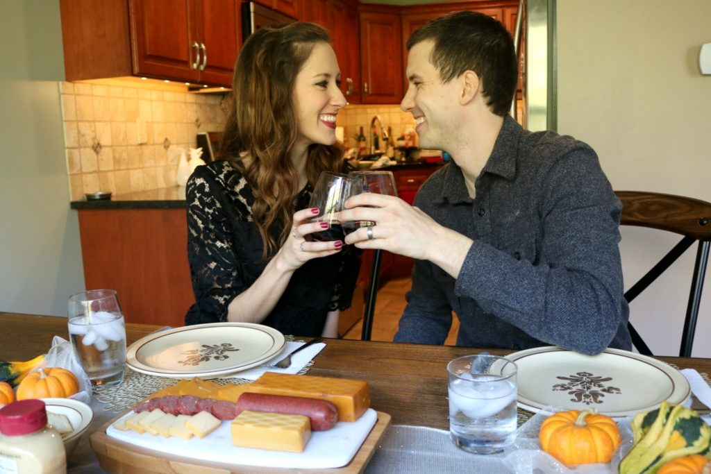 Our Newlywed Traditions - with Hickory Farms on Coming Up Roses