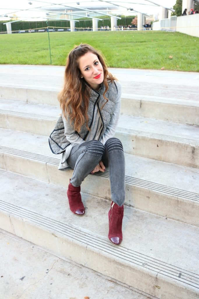 #AskE Instagram Q&A on Coming Up Roses, with J. Crew Herringbone Vest - How to be a Fashion Blogger: 6 Pose Ideas for Better Style Shots by popular Philadelphia fashion blogger Coming Up Roses