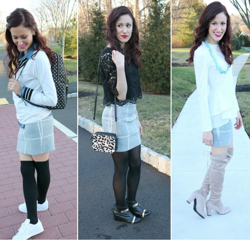 1 Thing, 3 Ways: Grid Skirt