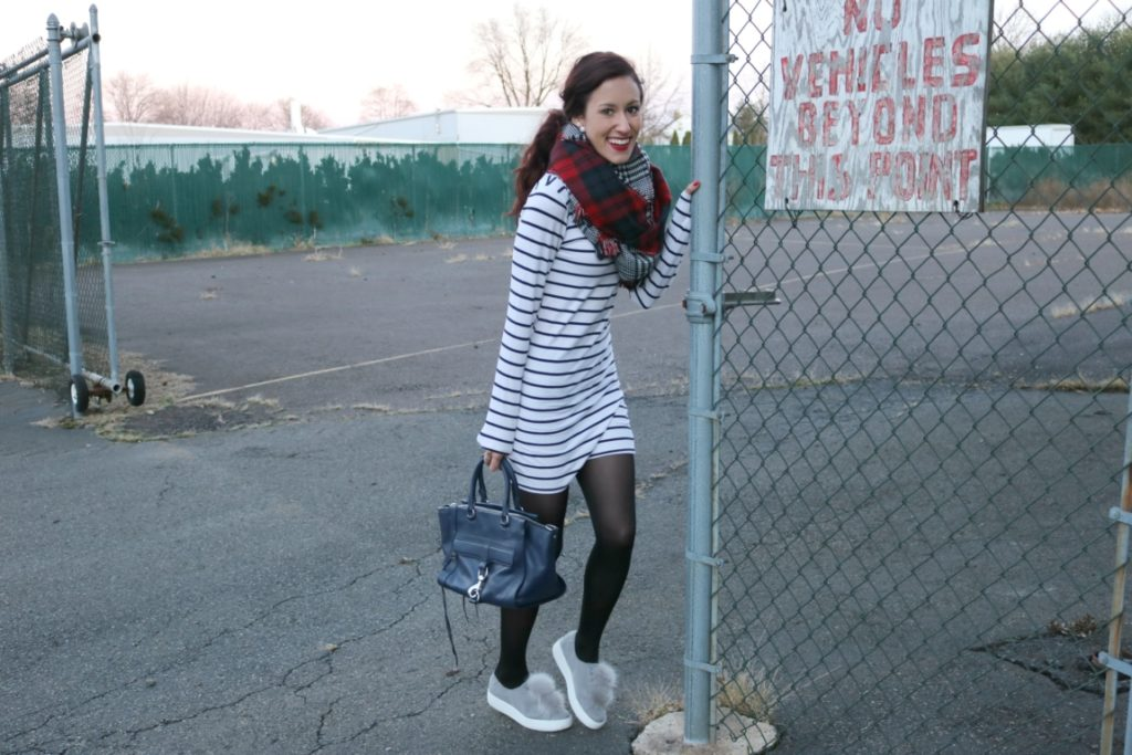 1 Thing, 3 Ways: Striped Dress - How to Wear a Striped Dress 3 Ways, on Coming Up Roses - How to be a Fashion Blogger: 6 Pose Ideas for Better Style Shots by popular Philadelphia fashion blogger Coming Up Roses