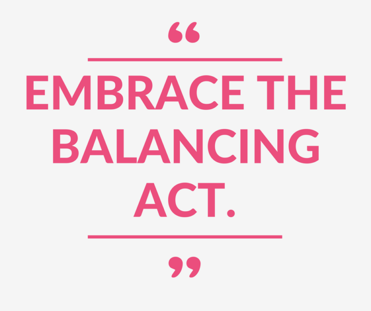"""Embrace the Balancing Act"" - a Monday Mantra on Balance on Coming Up Roses"