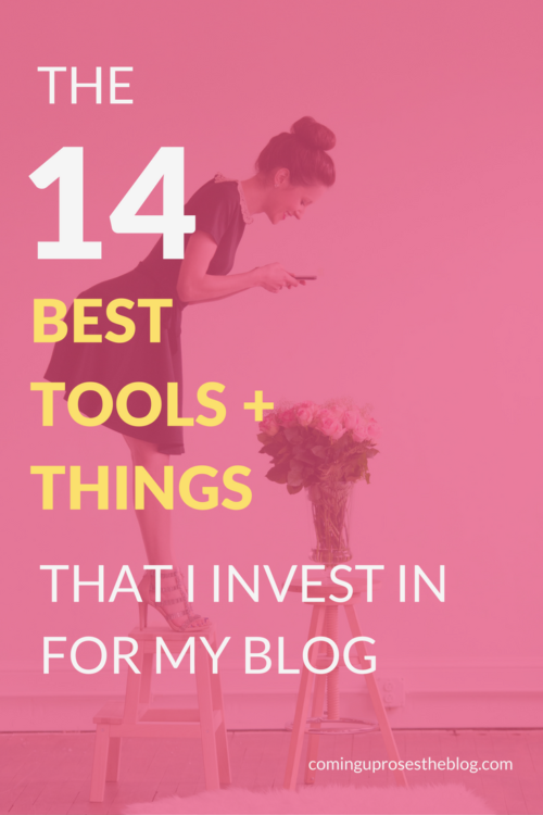 Don't be overwhelmed by all the choices! Here are 14 favorites from popular Philadelphia lifestyle blogger, Coming Up Roses of the best blogging tools that I invest in regularly for my blog as a full-time blogger.