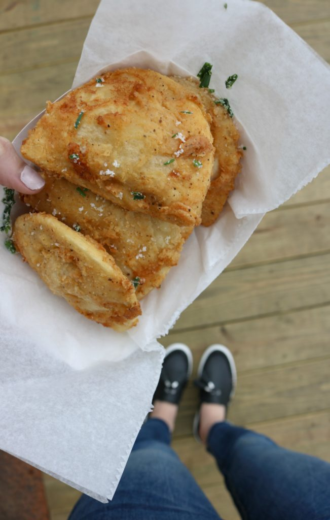 5 Easy Meals for Busy People - Mrs. T's Pierogies at Spruce Street Harbor Park - 5 Easy Meals for Dinner by popular Philadelphia lifestyle blogger Coming Up Roses