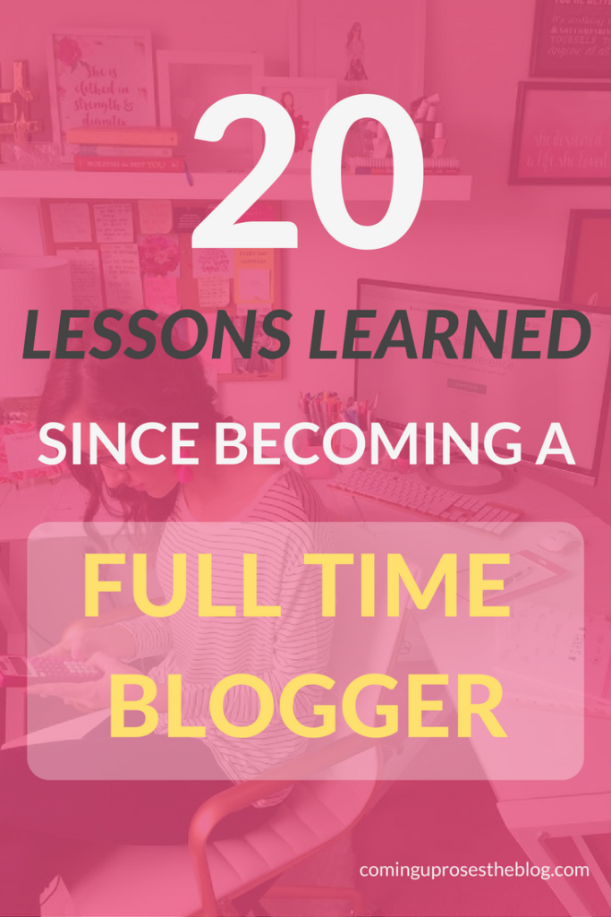 20 Lessons Learned since Becoming a Full Time Blogger by popular Philadelphia fashion blogger Coming Up Roses