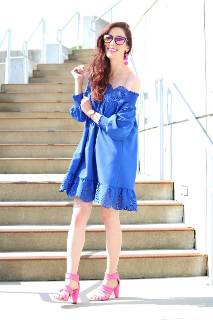 Blue Ruffle Dress under $20 - 12 Powerful Things to Remind Yourself of Today