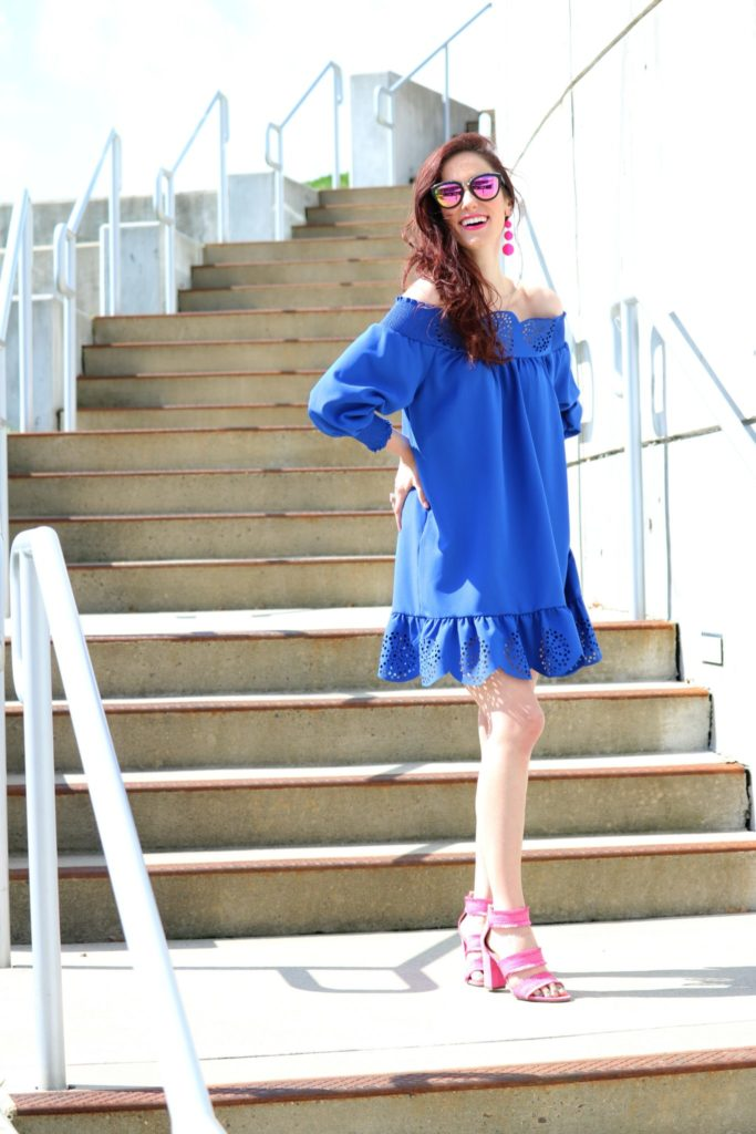 Blue ruffle dress under $20 - 12 Powerful Things to Remind Yourself Today - How to be a Fashion Blogger: 6 Pose Ideas for Better Style Shots by popular Philadelphia fashion blogger Coming Up Roses