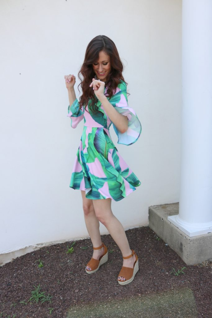 Palm print dress - How to rock Palm Print
