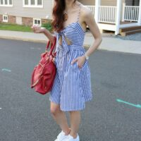 4th of July (Stars &) Stripes – $19 Blue and White Dress