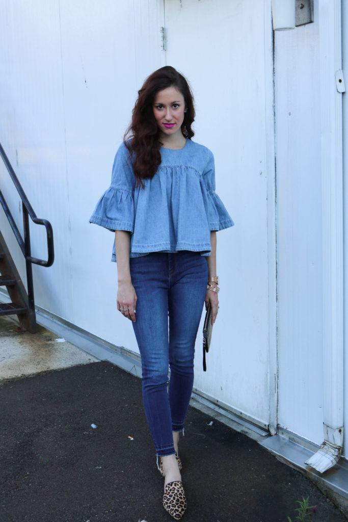 Trend to Try: Denim on Denim - How to be a Fashion Blogger: 6 Pose Ideas for Better Style Shots by popular Philadelphia fashion blogger Coming Up Roses