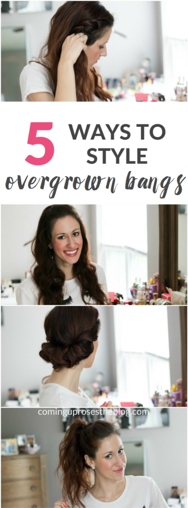 How to Style Growing Out Bangs - 5 Ways to Style Overgrown Bangs by popular Philadelphia style blogger Coming Up Roses