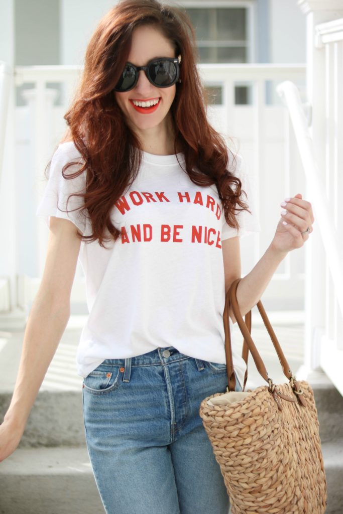 """""""Work Hard and Be Nice."""" by popular Philadelphia lifestyle blogger Coming Up Roses"""