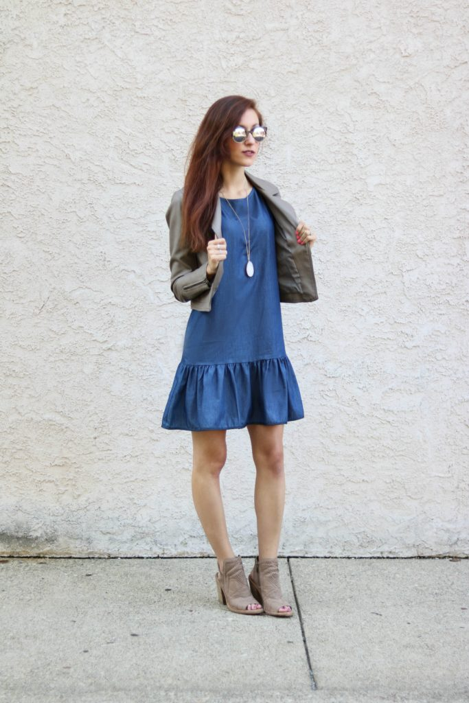 Trend to Try: Chambray Dress from Summer to Fall