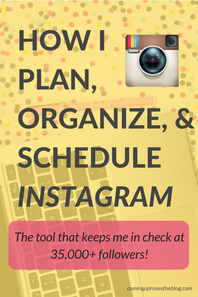 How I Plan, Organize, & Schedule Instagram with Planoly by popular Philadelphia blogger Coming Up Roses