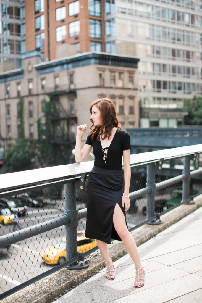 New York Fashion Week in Black featured by popular Philadelphia fashion blogger, Coming Up Roses