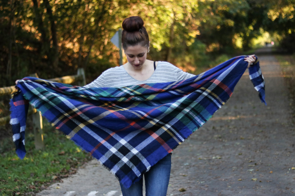 How to Wear a Blanket Scarf 10 Ways - 10 Ways to Wear a Plaid Blanket Scarf by popular Philadelphia fashion blogger Coming Up Roses