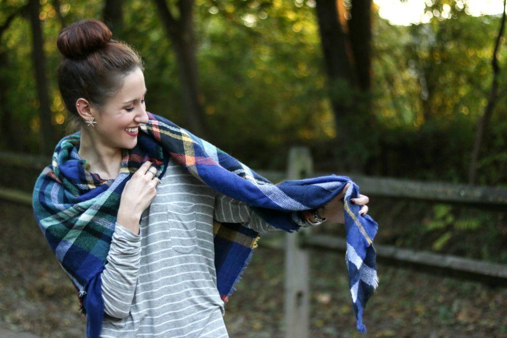 How to Wear a Blanket Scarf 10 Ways
