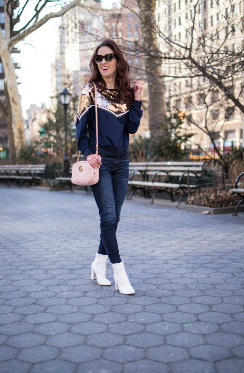 Fifteen Favorites - White booties, pink Gucci bag