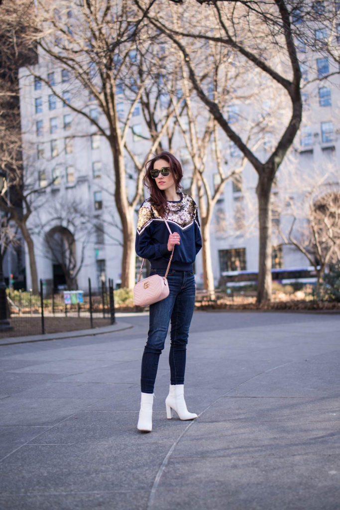 Fifteen Favorites - White booties, pink Gucci bag - Fifteen Favorite current trends by popular Philadelphia fashion blogger Coming Up Roses