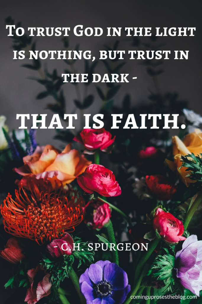 Trust in God - Thoughts on Trusting God on Coming Up Roses - Trust in God by popular Philadelphia lifestyle blogger Coming Up Roses