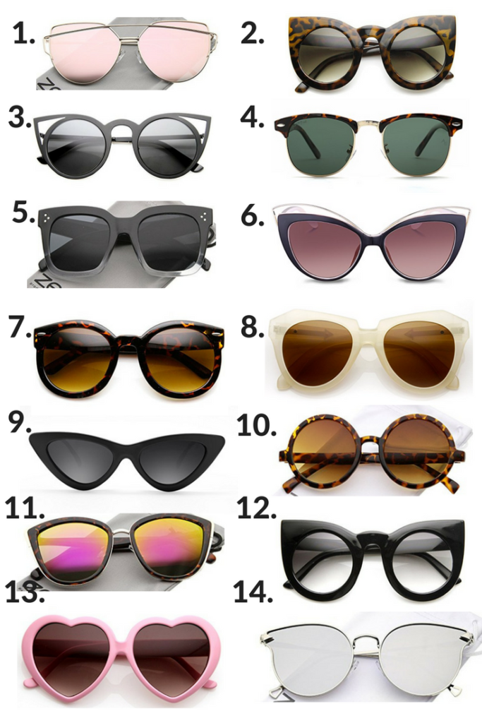 The 15 Best Amazon Sunglasses UNDER $15 by popular Philadelphia style blogger Coming Up Roses